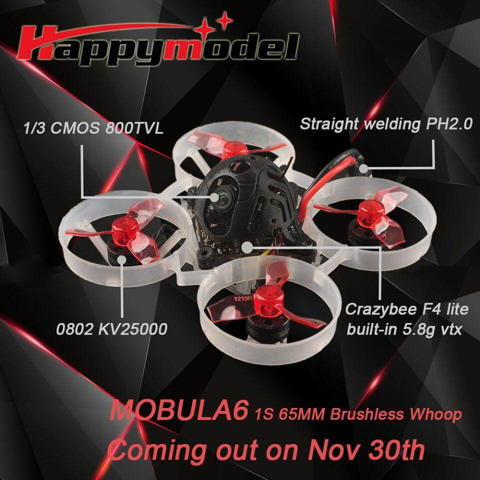 Happymodel Mobula6 65mm Crazybee F4 Lite 1S Whoop
