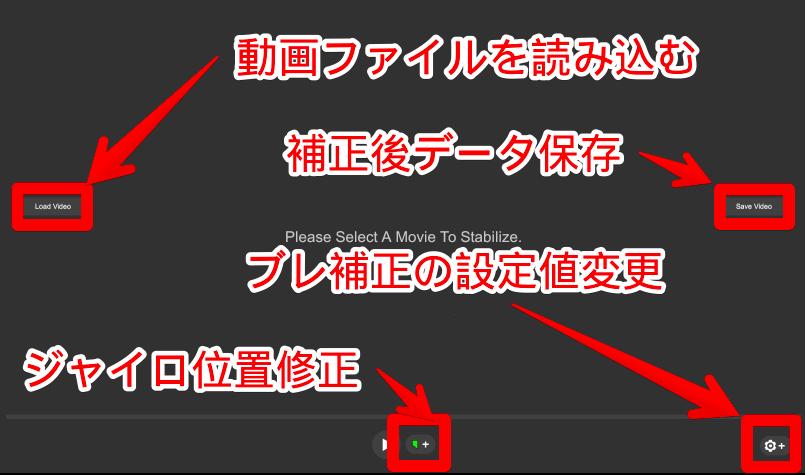 ReelSteadyGOの起動画面の解説